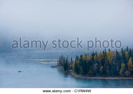 Kanas Lake, Altai Mountains, Xinjiang, China - Stock Photo