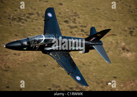A Hawk jet trainer aircraft of the Royal Air Force. - Stock Photo