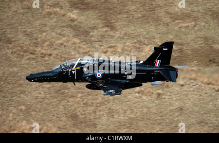 A Hawk T2 jet trainer aircraft of the Royal Air Force. - Stock Photo