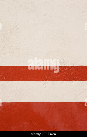 Painted stucco wall, close-up - Stock Photo