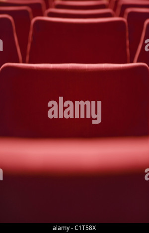 Empty theater seats, cropped