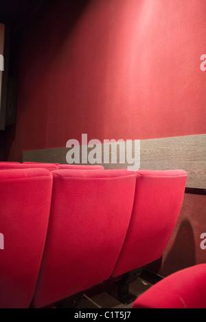 Empty seats in movie theater