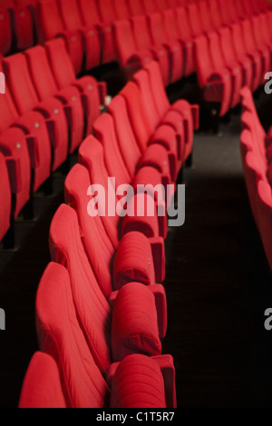 Empty theater seats - Stock Photo