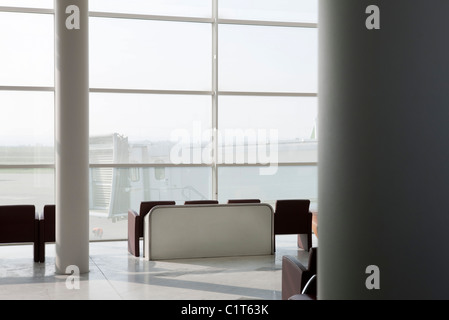 Empty waiting area in airport terminal - Stock Photo