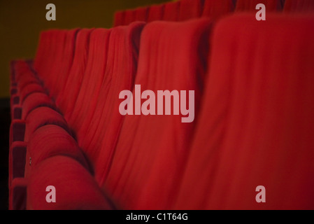 Empty theater seats, cropped - Stock Photo
