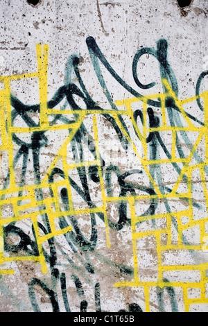 Graffiti, close-up - Stock Photo