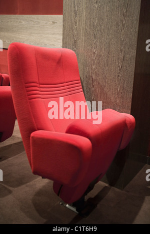 Empty seats in movie theater - Stock Photo