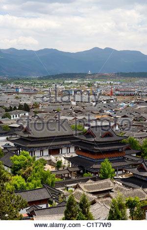 Lijiang Old Town, Yunnan, China - Stock Photo