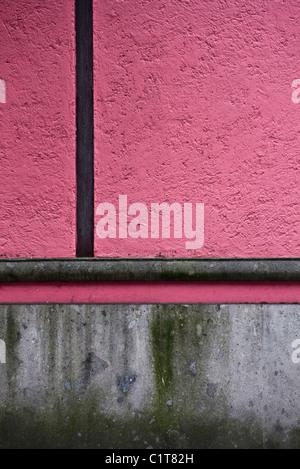 Stucco wall, close-up - Stock Photo