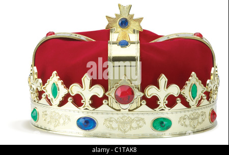 a royal crown isolated on a white background with clipping path - Stock Photo
