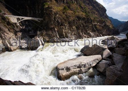 Tiger Leaping Gorge, Hutiao Xia, Yangtze River, Yunnan, China - Stock Photo