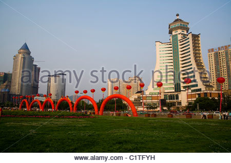 Guiyang, Peoples Square, Guizhou Province, China - Stock Photo