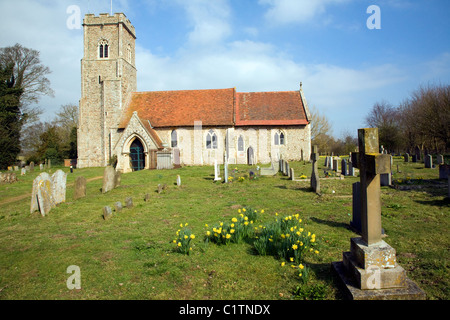 Saint Margaret's church Shottisham Suffolk England - Stock Photo