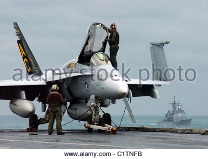 F/A-18C Hornets - Stock Photo