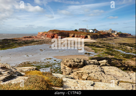 Hilbre Island  a local nature reserve and site of special scientific interest  located in the Dee Estuary, North - Stock Photo