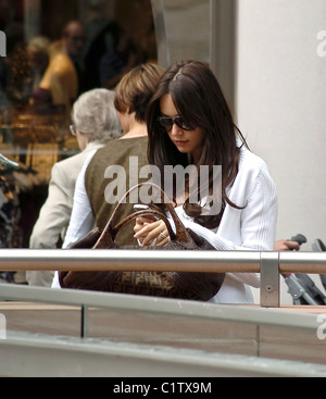 Michela Quattrociocche, WAG of Alberto Aquilani, shopping in Liverpool with the new signings brother Liverpool, - Stock Photo