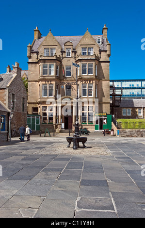 Stromness harbour area with The Stromness Hotel on Orkney Mainland in Scotland - Stock Photo