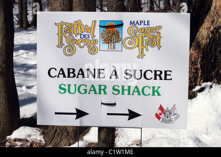 Maple Sugar Fest An Annual Event, Where Trees Are Tapped For Maple Syrup In The City Of Ottawa, Canada - Stock Photo