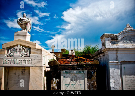 Ruins of a cemetery, St. Vincent De Paul Cemetery, New Orleans, Louisiana, USA - Stock Photo