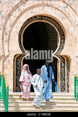 Door at the Great Mosque, Touba, Senegal, West Africa - Stock Photo