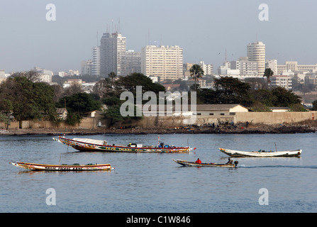 Senegal: skyline of modern Dakar - Stock Photo