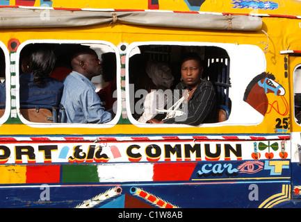Senegal, Dakar: traditional public transport bus