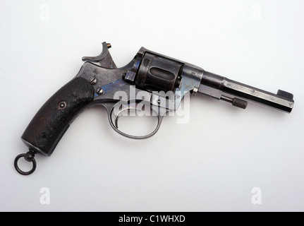 An antique Russian Nagant revolver from the Great War. - Stock Photo