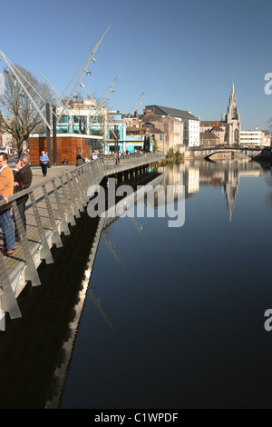 South Channel, River Lee, Cork, Ireland - Stock Photo