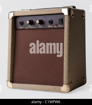 Guitar Amplifier isolated on a white background - Stock Photo
