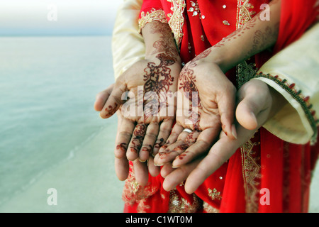 Indian woman's hands - Stock Photo