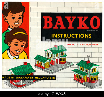 Bayko Building Set (Outfit 14) instruction book, c. 1966. - Stock Photo