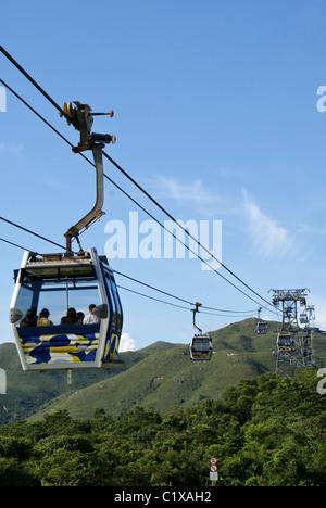 Cable car, Lantau Island, Hong Kong, China - Stock Photo