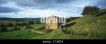 The Upper Manifold Valley near Longnor - Stock Photo