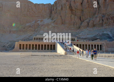Mortuary Temple of Queen Hatshepsut, Luxor Temple Complex, UNESCO World Heritage site, Thebes, Luxor, Luxor Governorate, - Stock Photo