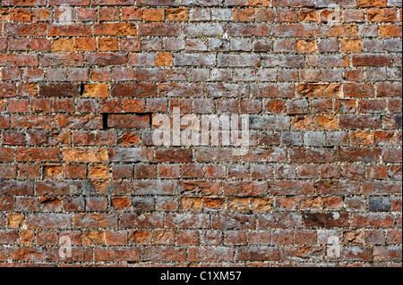 Old garden brick wall