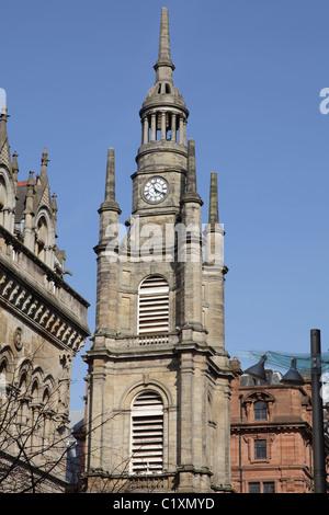 St. George's Tron Church Glasgow steeple, Buchanan Street / Nelson Mandela Place, Scotland, UK