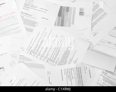 scattered paper reports and documents stock photo 35624898 alamy