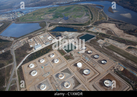 Fort McMurray Tar Sands are the largest surface oil deposits in the world and a valuable energy and fuel resource - Stock Photo