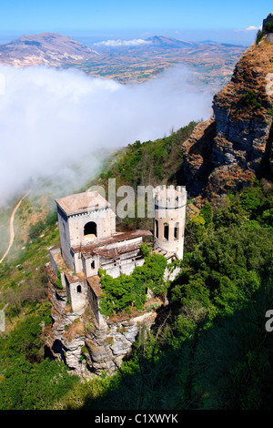 Castello di Vénere [ Venere ] Érice, Erice, Sicily stock photos. - Stock Photo