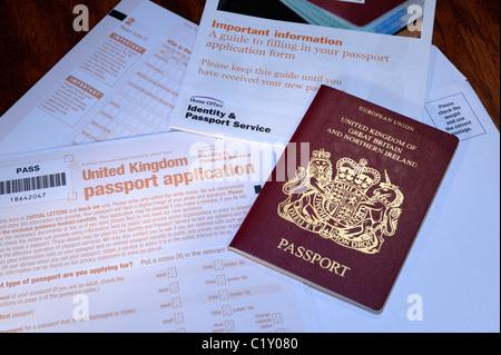 Uk Passport Application Form Stock Photo 66691539 Alamy