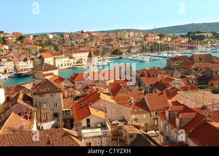 Rooftop view of Trogir Croatia - Stock Photo