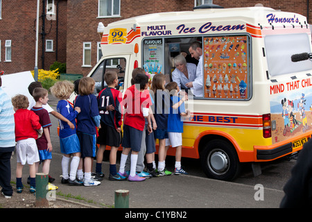 kids 'ice cream van' 'icecream van' - Stock Photo