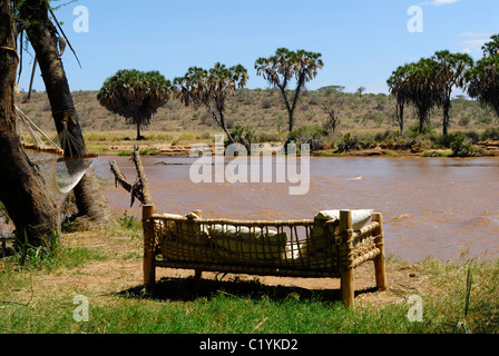 Recreation Area At Samburu River In Elephant Bedroom Tended Camp Stock Photo Royalty Free Image