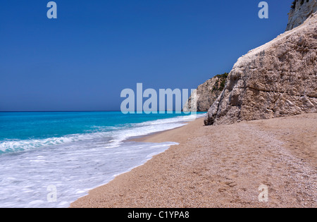 Greek sea (Lefkas island,Greece) - Stock Photo
