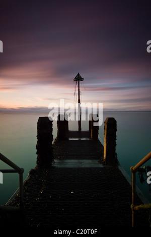 The Jetty, Aberystwyth, Ceredigion, West Wales UK - Stock Photo