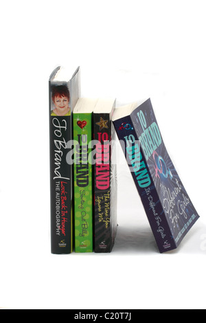 Books by Jo Brand the comedienne.Look back in Hunger, the Autobiography, Sorting Out Billy, The More You Ignore - Stock Photo