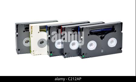 Mini DV cassettes - Stock Photo