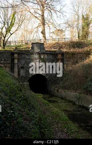 The Coates Portal and Kings Reach on the Thames and Severn Canal in Gloucestershire, England, United Kingdom - Stock Photo