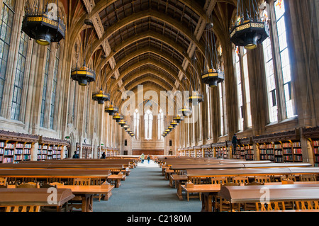 Graduate Reading Room in the Suzzallo Library at University of Washington, Seattle, USA - Stock Photo