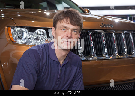 Michael Manley, at the North American International Auto Show in 2011. Manley was appointed CEO of Fiat Chrysler - Stock Photo